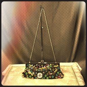 Vintage Beaded Evening Clutch Sm. Shoulder Bag